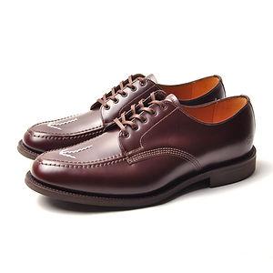 SANDERS Broad-Arrow Apron Shoe Burgundy