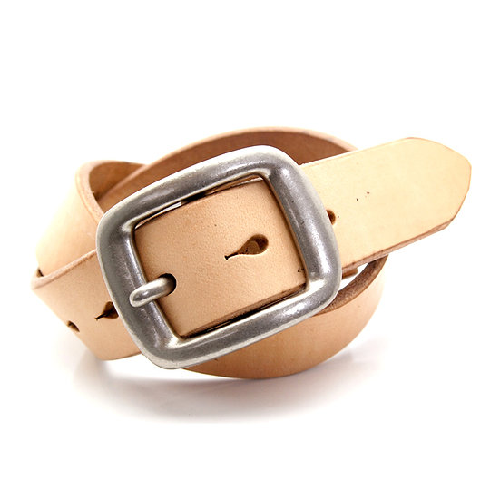 ART BROWN UK Saddle Leather Belt Tan