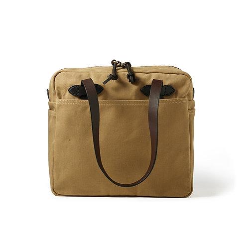Filson Rugged Twill Tote Bag with Zipper Tan