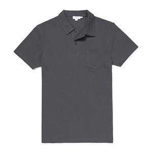 SUNSPEL Riviera Polo Shirt Charcoal