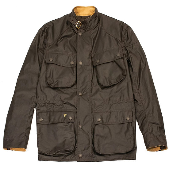 JOHN PARTRIDGE Speed 6 Wax Biker Jacket Brown