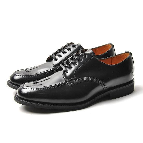 SANDERS Black Picusa Broad-Arrow Apron Shoe Black