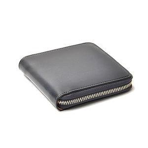IL BUSSETTO Bi-Fold Zipped Wallet Grey