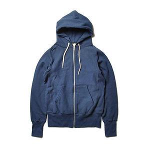 GOODWEAR S-Curve Raglan Zipfront Hooded Fleece Navy