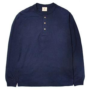 GOODWEAR Classic Fit Long Sleeve Henley Neck Tee Navy