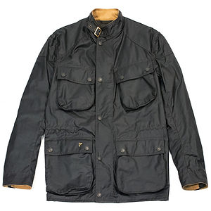 JOHN PARTRIDGE Speed 6 Wax Biker Jacket Black