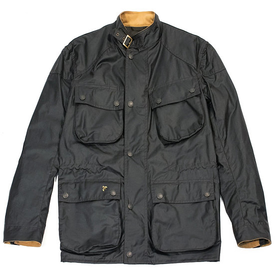JOHN PARTRIDGE Speed 6 Wax Biker Jacket Black