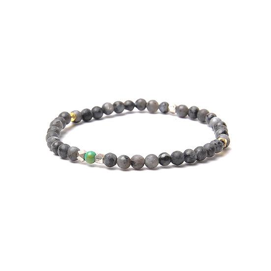 BRANCO Nomad Bracelet Gray Larvikite