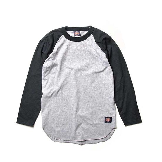 GOODWEAR L/S Two-Tone Baseball Raglan Oxford/Black