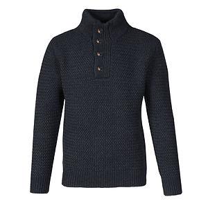 SCHOTT Funnel Neck Military Sweater