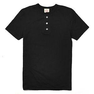 GOODWEAR Modern Fit Henley Tee Shirt Black