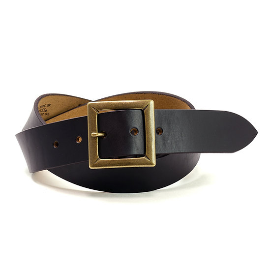 ART BROWN Horween Chromexel Leather Belt Black