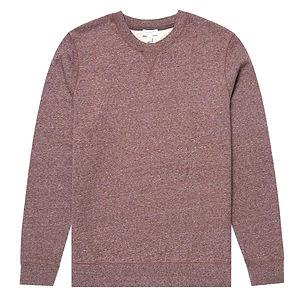 SUNSPEL Men's Cotton Loopback Sweatshirt Oxblood Twist
