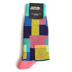 Unsimply Stitched Striped Block Socks