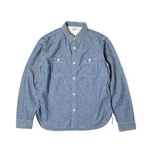 BURGUS PLUS L/S Chambray Work Shirt Indigo