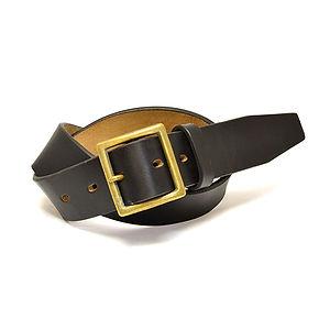 ART BROWN Horween Chromexel Leather Belt Black