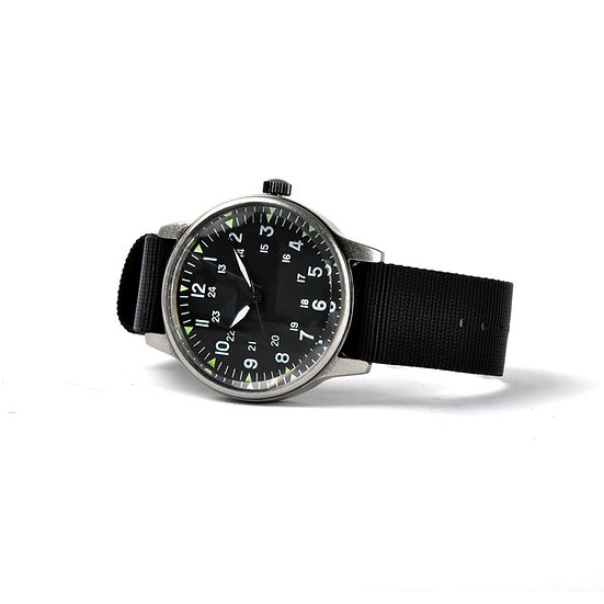 MWC Classic Retro Design Military Watch with U.S Pattern 12/24 Hour Dial