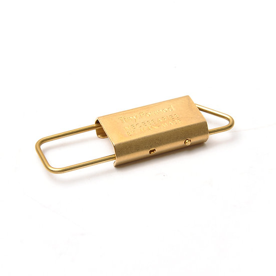 TINY FORMED Tiny Metal Key Fold Brass