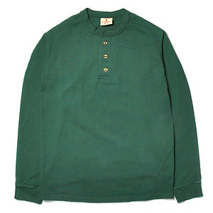 GOODWEAR Classic Fit Long Sleeve Henley Neck Tee Hunter Green