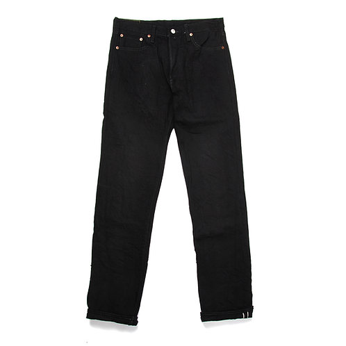 BURGUS PLUS 770-99 Black x Black Selvedge Denim Standard Jeans