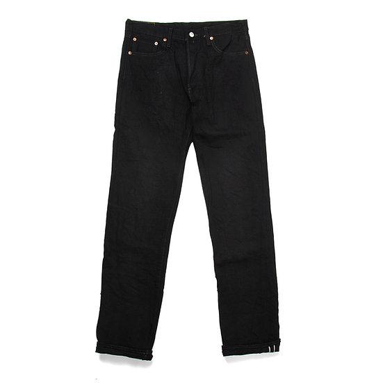 BURGUS PLUS 770-99 Black x Black Selvedge Denim Standard Jeans