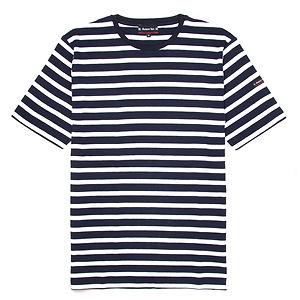 ARMOR-LUX Breton Striped Cotton Shirt Navy/White
