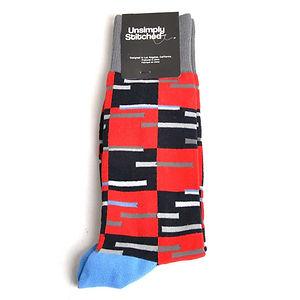 Unsimply Stitched Checker Blast Socks