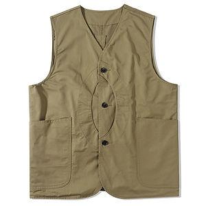 STANDARDTYPES Reversible Outdoor Vest Khaki