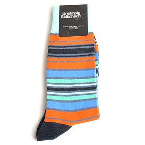 Unsimply Stitched Pigment Stripe Socks
