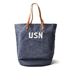 IN MEMORIES SPORTWEAR US Navy Selvedge Deck Bag