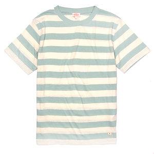 ARMOR-LUX Striped Cotton Linen T-shirt Héritage Light Beige/Green