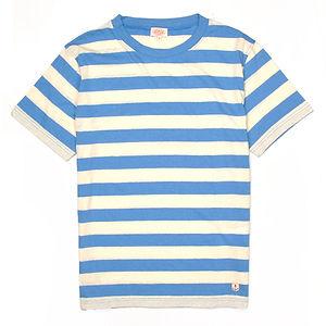 ARMOR-LUX Striped Cotton Linen T-shirt Héritage Beige/Blue