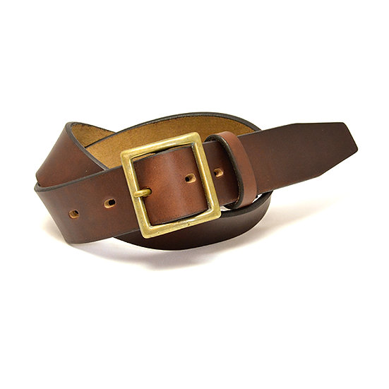 ART BROWN Horween Chromexel Leather Belt Dark Brown