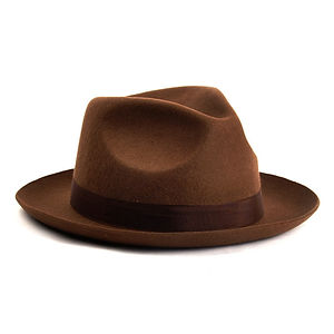 CHRISTY'S LONDON Chepstow Wool Felt Fedora Hat Brown