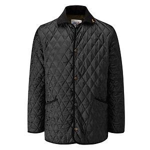 JOHN PARTRIDGE Rag Quilted Jacket Black / Olive