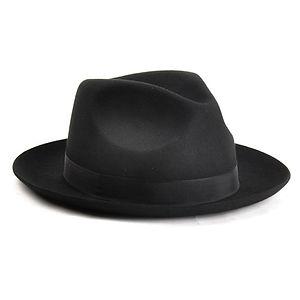 CHRISTY'S LONDON Chepstow Wool Felt Fedora Hat Black