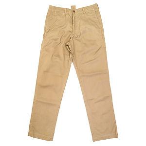 BURGUS PLUS Military Zip Fly Trousers Beige