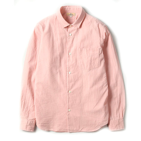 JAPAN BLUE JEANS 5oz Cote d'Ivoire Cotton Selvedge Bono Chambray Shirt Pink
