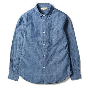 JAPAN BLUE JEANS 5oz Cote d'Ivoire Cotton Selvedge Bono Chambray Shirt Indigo
