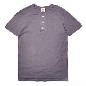 GOODWEAR Modern Fit Henley Tee Shirt Charcoal
