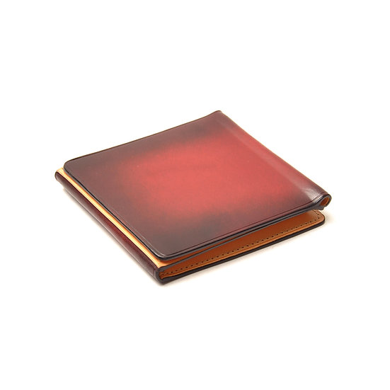 IL BUSSETTO Trifold Wallet Tibetan Red