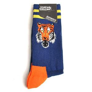 Unsimply Stitched Tiger Mascot Socks