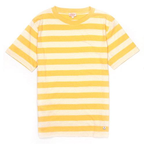 ARMOR-LUX Striped Cotton Linen T-shirt Héritage Beige/Yellow