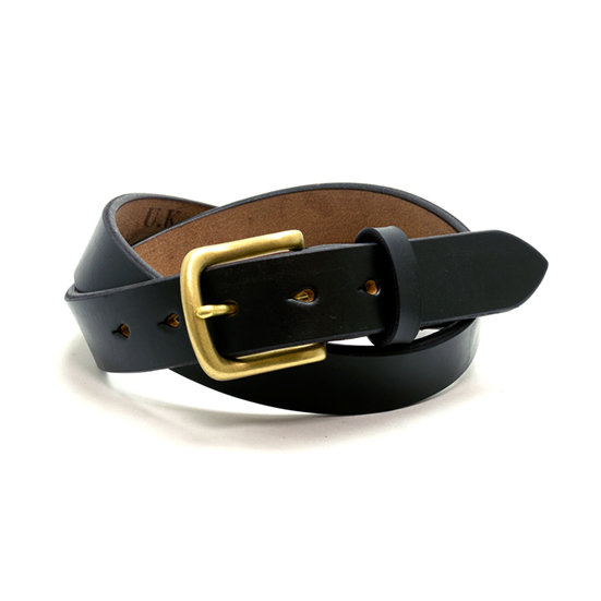 ART BROWN UK Saddle Leather Belt Black