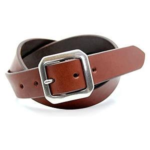 ART BROWN Tochigi Leather Belt Dark Brown