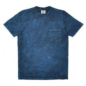 GOODWEAR Modern Fit Crew Neck Pocket Tee Shirt Blue Acid Wash