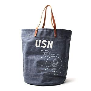 IN MEMORIES SPORTWEAR USN SeaBees Selvedge Deck Bag
