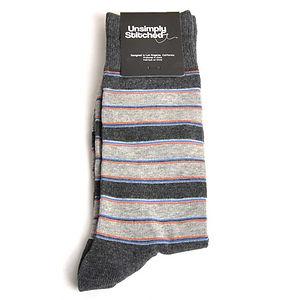 Unsimply Stitched Cultured Stripe Socks