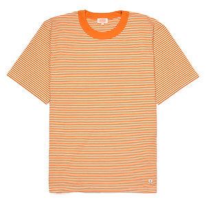 ARMOR-LUX Striped Cotton Linen T-shirt Héritage White/Orange