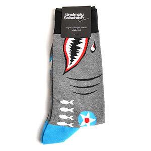 Unsimply Stitched Shark Plane Socks